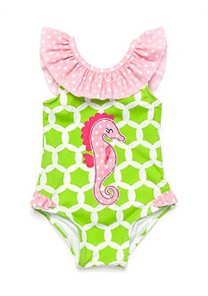 Nursery Rhyme Seahorse One Piece Bathingsuit