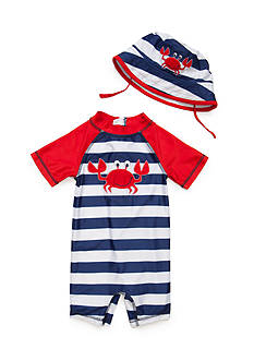 Nursery Rhyme® 2-Piece Crab Hat and Rushguard Set