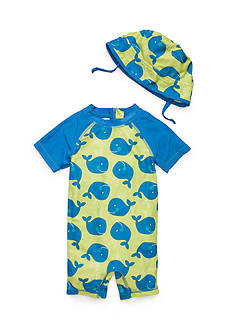 Nursery Rhyme 2-Piece Fish Hat and Rashguard Set