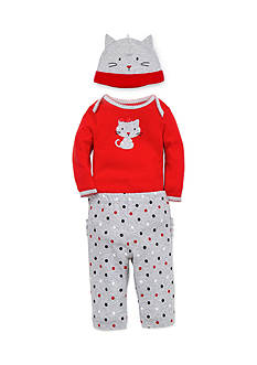 best beginnings by Little Me 3-Piece Kitty Bodysuit, Hat, and Pants Set
