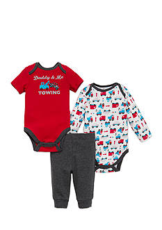 best beginnings by Little Me Tow Truck 3pc Pant Set
