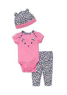 best beginnings® by Little Me 3-Piece Cat Turn-Around Bodysuit, Pant and Hat Set