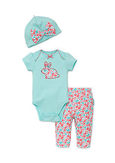best beginnings® by Little Me 3-Piece Bunny Bodysuit, Hat and Pants Set