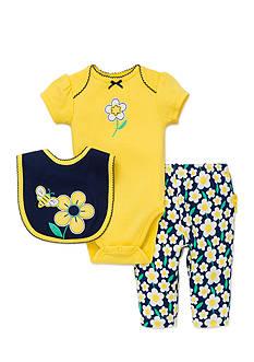 best beginnings by Little Me 3-Piece Daisy Bib, Bodysuit, and Pants Set