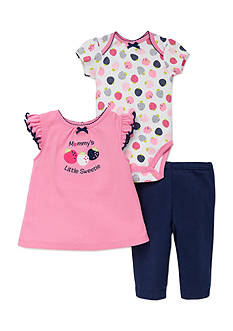 best beginnings® by Little Me 3-Piece Strawberry Bodysuit, Pant and Top Set