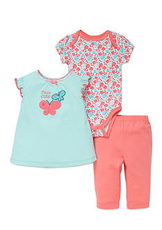 best beginnings® by Little Me 3-Piece Butterfly Bodysuit, Shirt and Pants Set