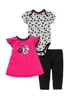 best beginnings® by Little Me 3-Piece Floral Tee, Bodysuit, and Leggings Set
