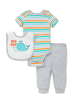 best beginnings® by Little Me 3-Piece Whale Bib, Bodysuit, and Jogger Set