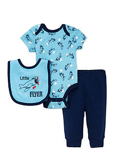 best beginnings® by Little Me 3-Piece Plane Turn-Around Bodysuit, Pants and Bib Set