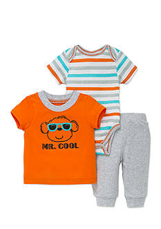 best beginnings® by Little Me 3-Piece Monkey Tee, Bodysuit, and Jogger Set