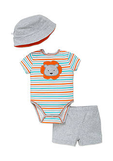 best beginnings® by Little Me 3-Piece Lion Bodysuit, Hat, and Shorts Set