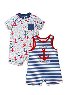 best beginnings® by Little Me 2-Pack Anchor Romper Set