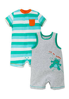 best beginnings® by Little Me 2-Piece Frog Romper Set