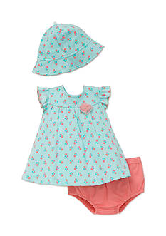 best beginnings® by Little Me 3-Piece Hat, Dress, and Bloomers Set