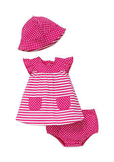 best beginnings by Little Me 3-Piece Stripe Sundress, Sunhat and Panty Set