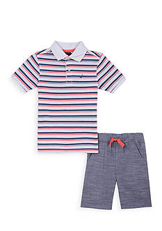 Nautica 2-Piece Stripe Polo Set Toddler Boys