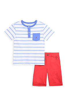 Nautica 2-Piece Stripe Henley Set Toddler Boys