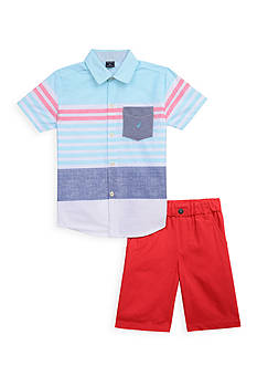 Nautica 2-Piece Woven Button-Front Shirt Set Toddler Boys