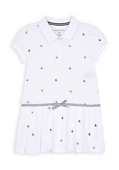 Nautica Printed Pleated Dress Toddler Girls