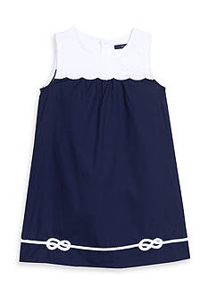 Nautica Woven Scallop Dress Toddler Girls