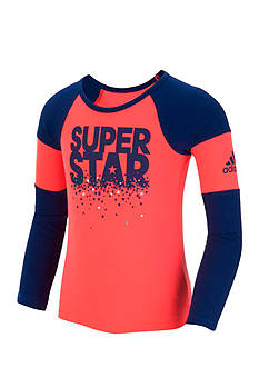 adidas Neon Racing Raglan Tee Toddler Girls