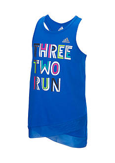 adidas® 'Three Two Run' Tank Toddler Girls