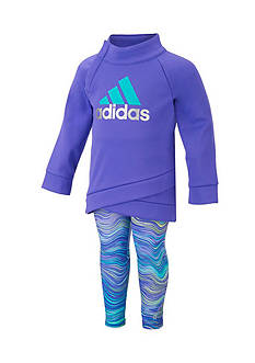 adidas Wave Tight Pant Set Toddler Girls