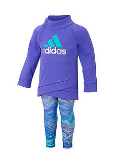 adidas® Pullover And Printed Tight Set