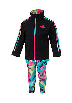 adidas Printed Tricot Pant Set Toddler Girls