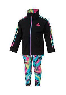 adidas Tricot Jacket And Printed Legging Set