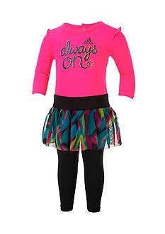 adidas Bodysuit And Mesh Tutu Skirt With Leggings Set