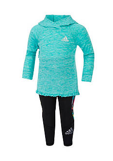adidas Climate Hooded Pant Set Toddler Girls