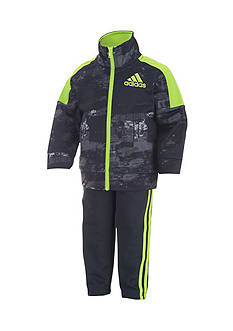 adidas Tricot Printed Jacket And Pant Set Toddler Boys