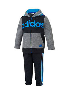 adidas Fleece Hoodie And Pant Set Toddler Boys