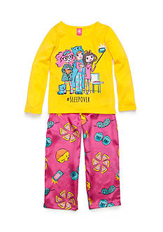 J. Khaki 2-Piece Sleepover Pajama Set Girls 4-16