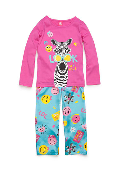 J. Khaki® 2-Piece Zebra Pajama Set Girls 4-16