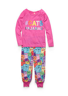 J. Khaki 2-Piece '#Cats Pajamas' Pajama Set Girls 4-16
