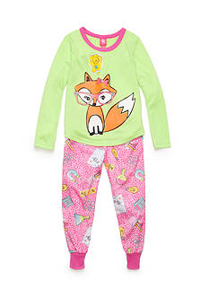 J. Khaki 2-Piece Smarty Fox Pajama Set Girls 4-16