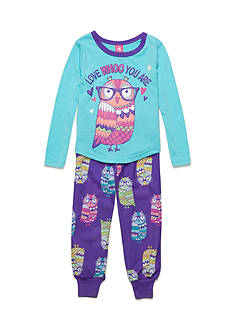 J. Khaki 2-Piece Owl Pajama Set Girls 4-16