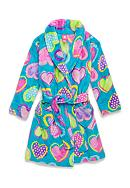 J. Khaki® Fuzzy Heart Robe Girls 4-16