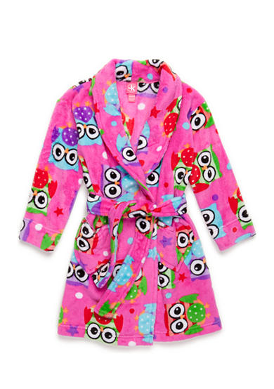 J. Khaki® Fuzzy Owl Robe Girls 4-16