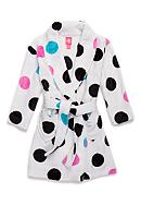 J. Khaki® Fuzzy Polka Dot Robe Girls 4-16