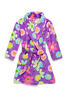 J. Khaki® Fuzzy Flower Robe Girls 4-16