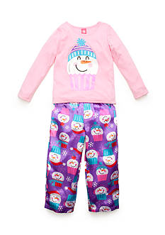 J. Khaki® Snowman Cupcake 2-Piece Pajama Set Girls 4-16