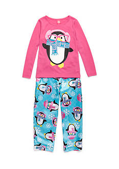 J. Khaki® Geek Penguin 2-Piece Pajama Set Girls 4-16