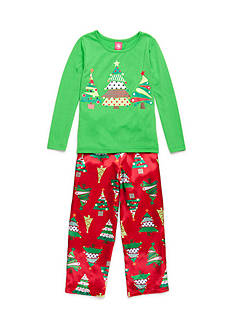 J. Khaki® Christmas Tree 2-Piece Pajama Set Girls 4-16