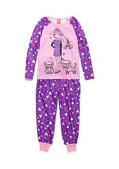J. Khaki® Pug and Girl 2-Piece Pajama Set Girls 4-16