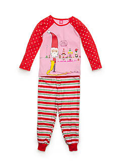 J. Khaki® Santa's Workshop 2-Piece Pajama Set Girls 4-16