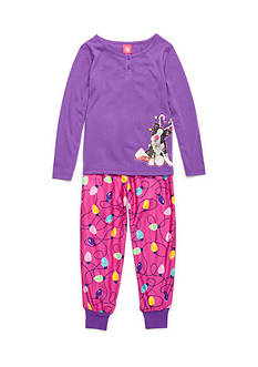 J. Khaki® Dog Reindeer 2-Piece Pajama Set Girls 4-16