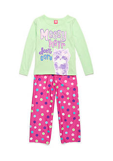 J. Khaki® Messy Hair Cat 2-Piece Pajama Set Girls 4-16